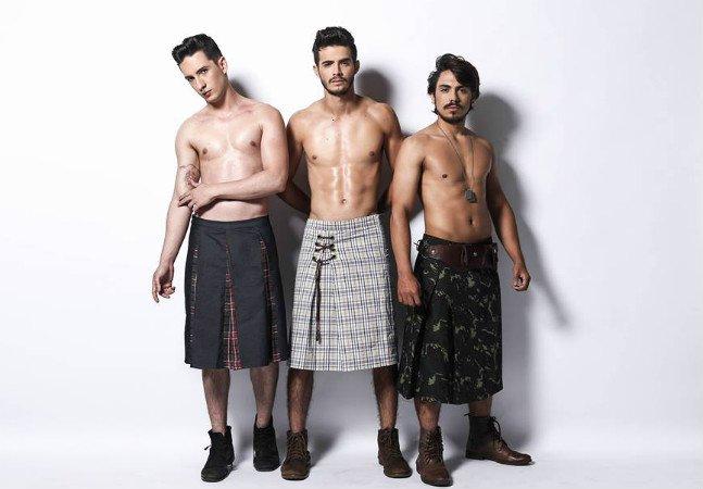 Estilista do Mato Grosso do Sul cria coleção incrível de saias masculinas