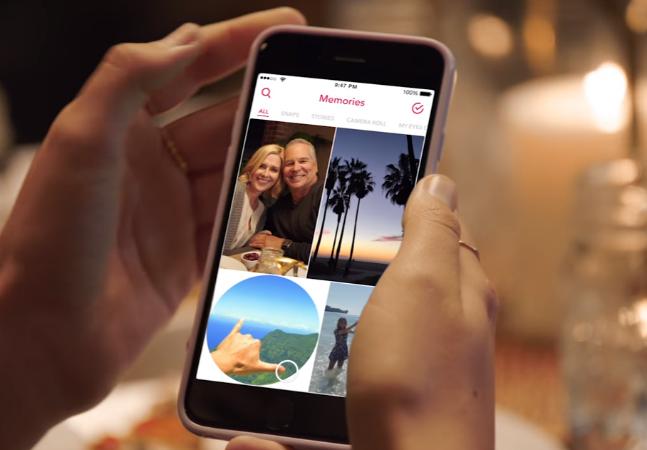 Snapchat anuncia Memórias, recurso que permitirá salvar e repostar snaps dentro do app