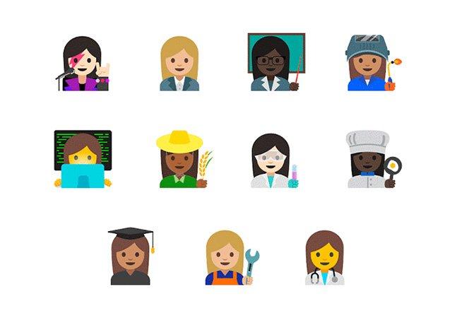 Finalmente! Emojis de profissões vão ter mulheres