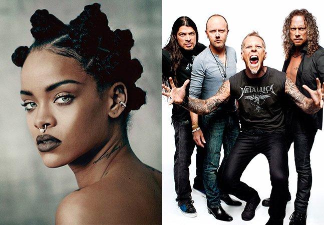 Metallica e Rihanna se unem em show contra a pobreza em Nova York