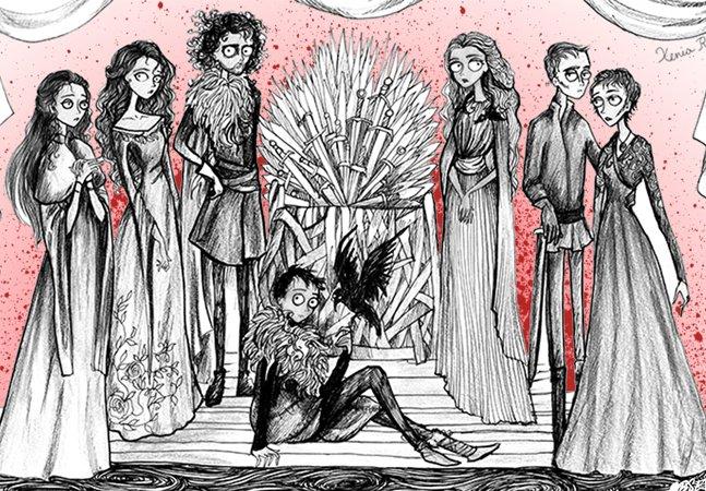 Ilustradora recria personagens de  Game of Thrones em estilo Tim Burton
