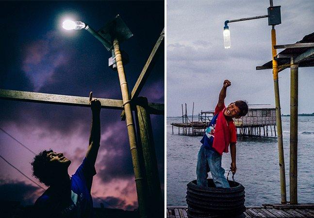 ONG ilumina comunidades ribeirinhas da Amazônia com garrafas PET e energia solar