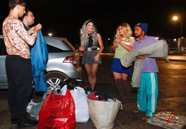 'Montadas para o Bem': drag queens se unem para ajudar moradores de rua em Brasília