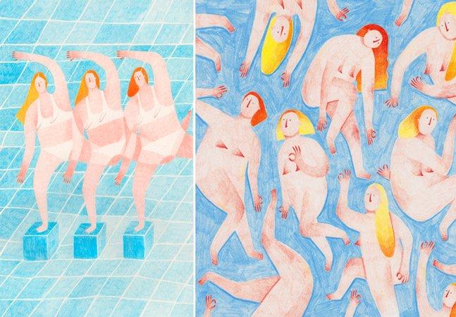 Ilustradora italiana aborda a  estigmatização do corpo feminino em trabalhos delicados e impactantes