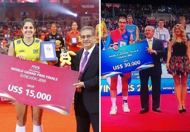 Prêmios pagos em torneios de vôlei masculino e feminino mostram como o machismo está em todas as áreas