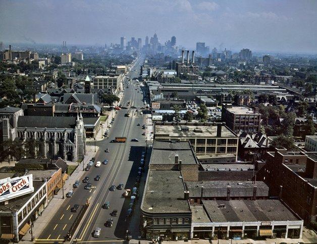 A cidade de Detroit nos anos 1950