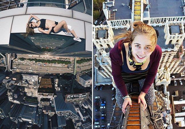 Tente não se assustar com as arriscadas fotos desta jovem que está conquistando o Instagram