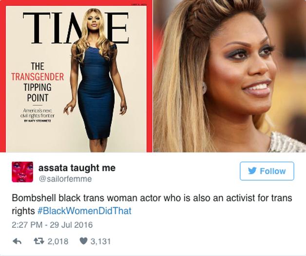 Laverne Cox, atriz trans e ativista pelos direitos trans