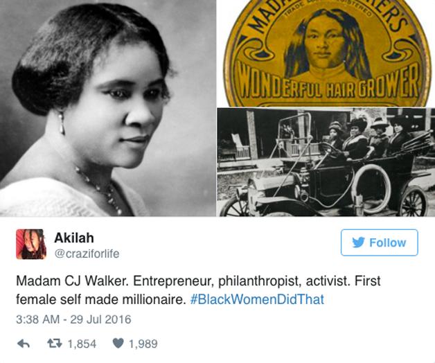 Madame CJ Walker, empreendedora, filantrópica, ativista, a primeira mulher milionária.