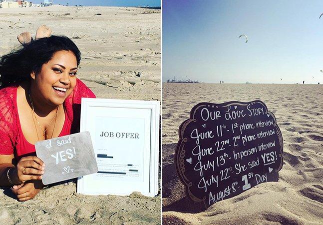 Ela anunciou seu novo emprego com um maravilhoso – e divertido! – álbum de fotos
