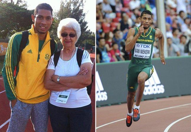 A inspiradora bisavó de 74 anos que treinou o medalhista de ouro – e recordista – nos 400 m rasos