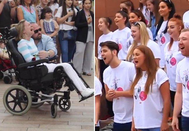 Amor define! Ele organizou o melhor presente de 10 anos de casamento pra esposa que sofre de esclerose múltipla