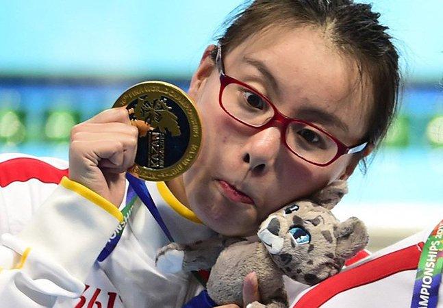 As adoráveis reações desta nadadora que ganhou bronze e não sabia estão conquistando a internet