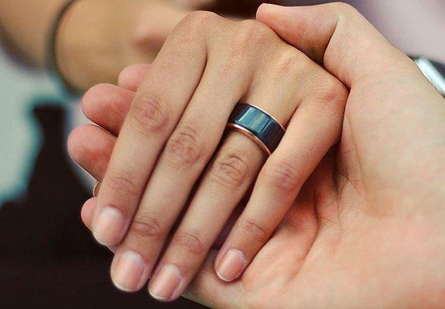 Com esses anéis você sente os batimentos cardíacos da pessoa amada mesmo de longe