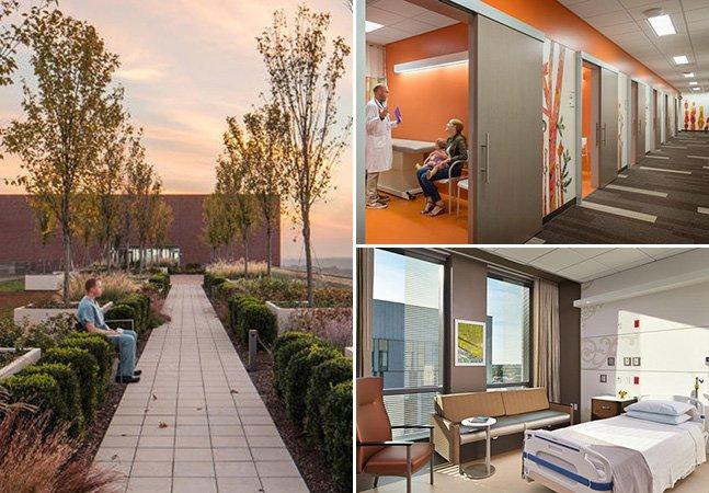Estes 7 hospitais usam o design e a natureza para ajudar a curar os pacientes mais rapidamente