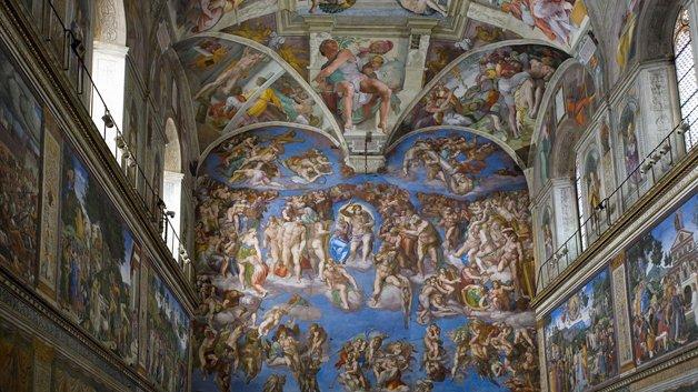 Capela Sistina, no Museu do Vaticano