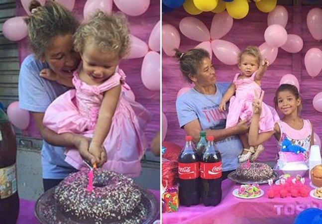 Lojistas em Maceió se comovem e organizam festa de aniversário para menina em situação de rua