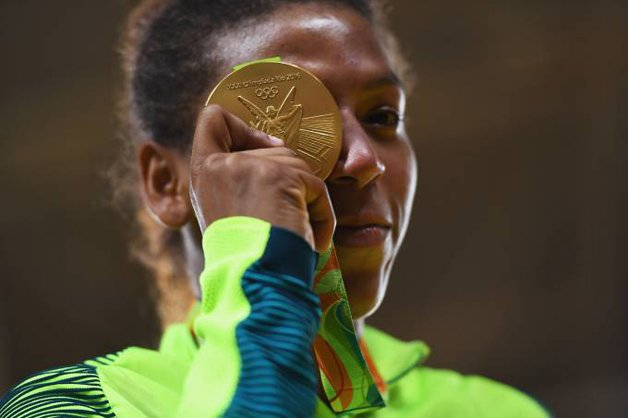 A judoca de ouro Rafaela Silva