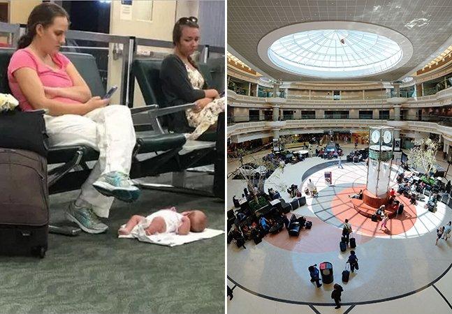 A história por trás da polêmica foto da mãe que deixa sua filha de 2 meses no chão enquanto mexe no celular