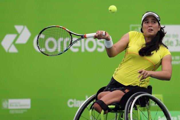 A atleta Natalia Mayara, do Tênis
