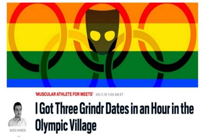 Jornalista expõe atletas  homossexuais no Rio usando Grindr