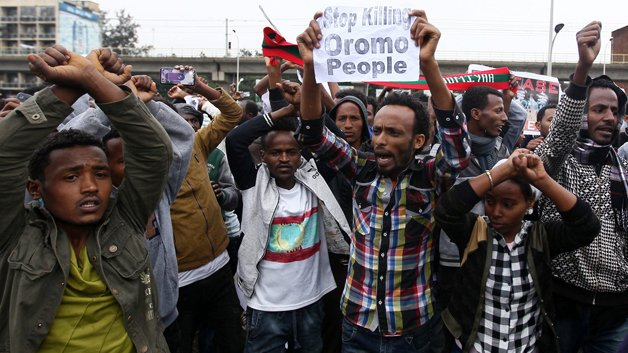 Protesto Omoro na Etiópia