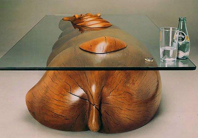 Estas incríveis mesas criam a ilusão de animais emergindo da água