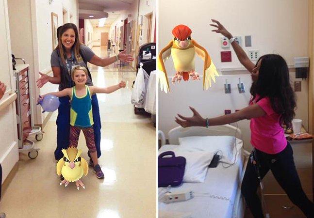 Hospital usa Pokémon Go para incentivar crianças internadas a saírem dos seus quartos