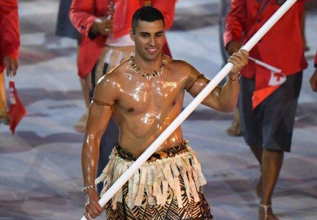 Você também ficou curioso para saber por que o atleta do Tonga se besuntou?