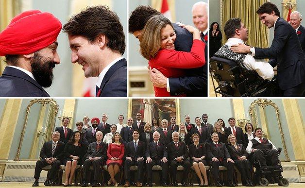 A diversidade da equipe ministerial de Trudeau
