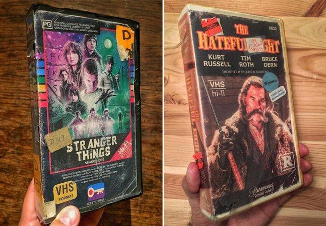Ele criou um incrível VHS de Stranger Things… E muito mais!