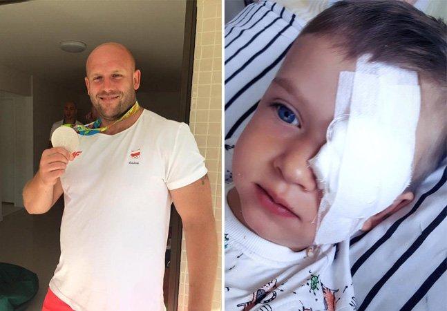Este atleta está leiloando a medalha que ganhou para custear tratamento de menino com câncer