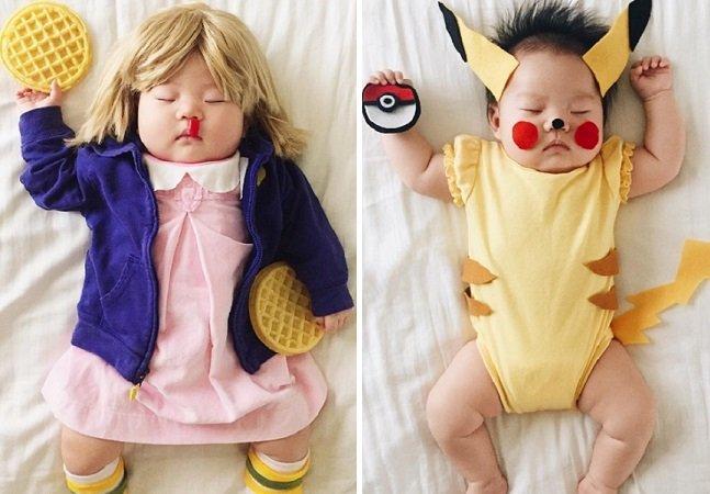 Esta fotógrafa transforma sua filha de 4 meses em personagens famosos enquanto ela dorme