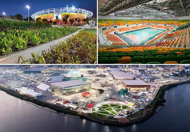 Estes estádios olímpicos irão se transformar em escolas e parques públicos após os Jogos