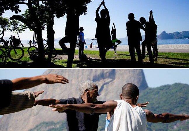 Projeto no Rio organiza encontros de meditação e yoga com pessoas em situação de rua