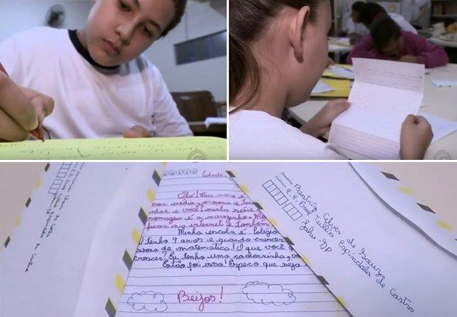 Escolas criam projeto de troca  de cartas para estimular  alunos a escreverem certo
