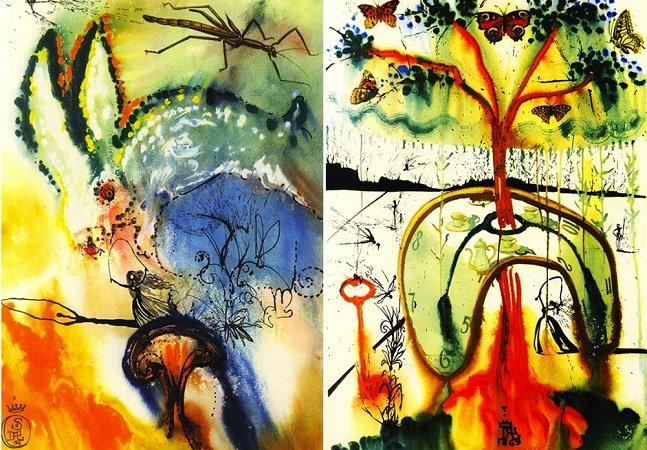 As ilustrações de Alice no País das Maravilhas feitas por Salvador Dalí são incríveis
