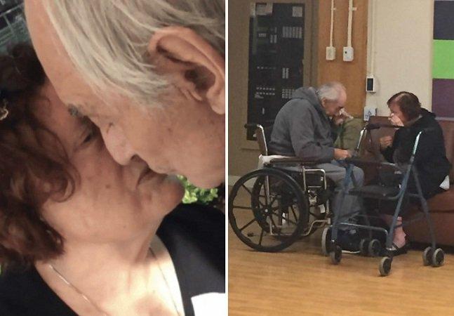 Neta posta foto de seus avós que foram obrigados a viver separados e momento vira ode ao amor