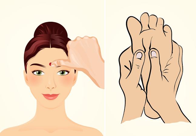 Apertando algum deste 6 pontos no corpo você alivia cólica, dor na coluna, estresse e dor de cabeça