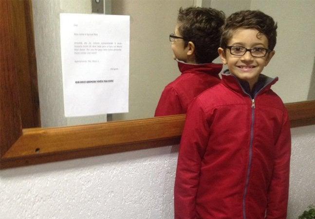 Este menino pediu caixas de leite no seu aniversário de 9 anos pra doar a lar de idosos no RS