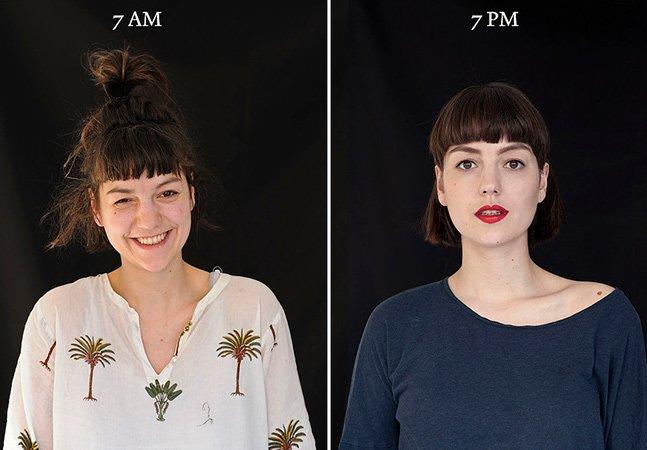 Fotógrafa capta pessoas no começo e no fim do dia para mostrar como nossa aparência muda
