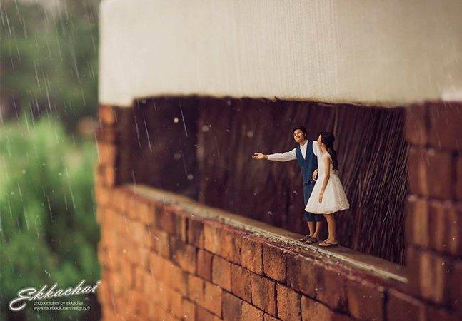 Este fotógrafo de casamento decidiu inovar e eternizar os noivos em miniaturas
