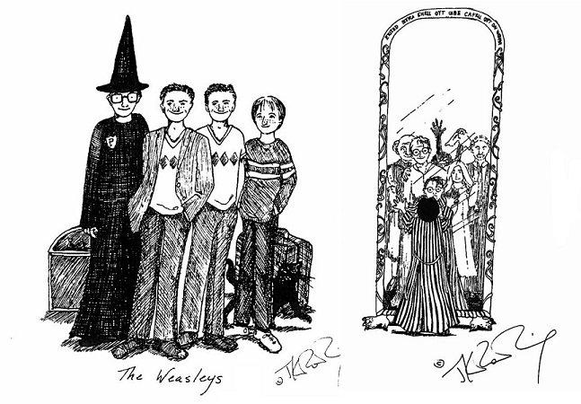 A própria J.K. Rowling fez estas incríveis ilustrações de Harry Potter
