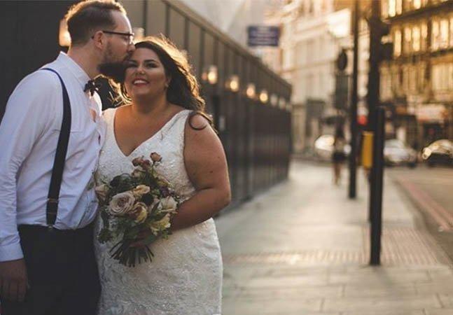 Blogueira que superou preconceito dá aula de autoestima no dia de seu casamento