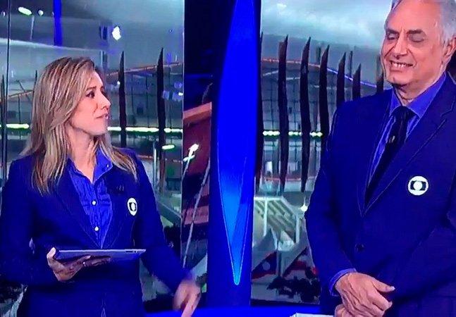 Cris Dias mostrou ao vivo o  que é 'mansplaining' quando  William Waak a interrompeu