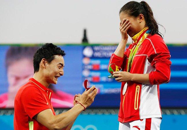 Pedido de casamento entre atletas  chineses na Olimpíada gera polêmica