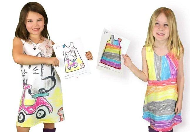 Esta marca de roupas infantis deixa as crianças desenharem suas próprias peças