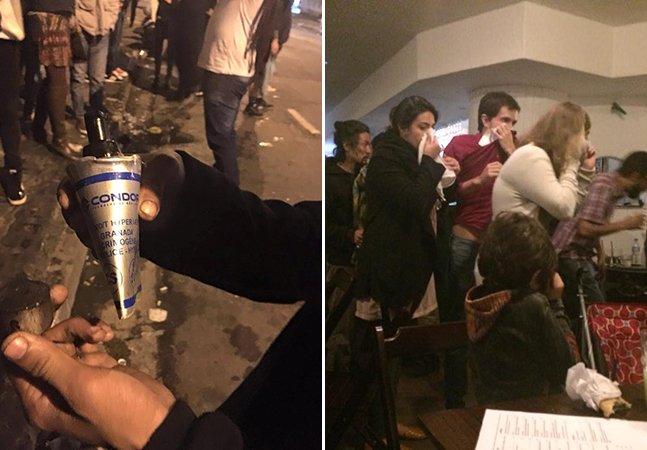 Por dois dias seguidos, Polícia Militar joga bombas de gás em bar de refugiados palestinos em SP