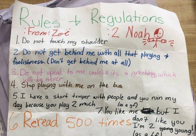 Esta menina da 5ª série explicou de forma perfeita pra um colega abusador que 'não' significa… 'não'