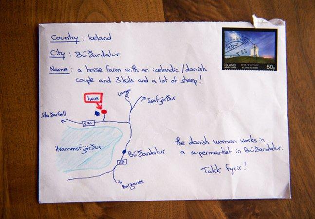 Ele não tinha o endereço para onde queria enviar uma carta – e encontrou uma solução muito criativa